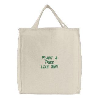 Seja eco-amigável! Plante uma árvore com TreeBag! Bolsas Bordadas