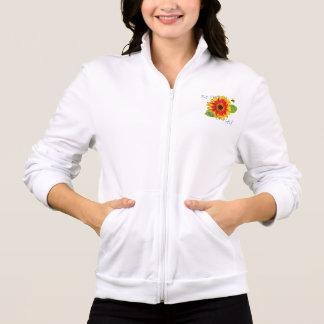 Seja jaqueta feliz da flor