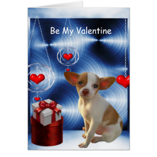Seja meus corações do amor do cão da chihuahua dos cartão comemorativo