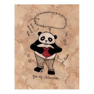 Seja meus namorados, Panda. Cartão Postal