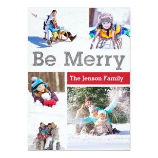 Seja multi cartão com fotos alegre