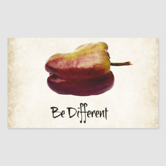 """""""Seja"""" pimenta de Bell roxa diferente Adesivo Retangular"""