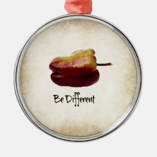 """""""Seja"""" pimenta de Bell roxa diferente Ornamento Redondo Cor Prata"""