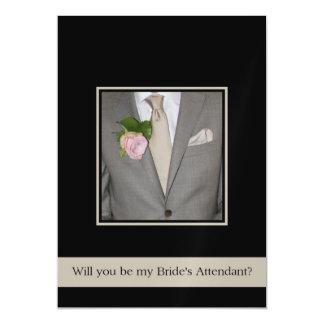 Seja por favor o assistente da noiva - convite