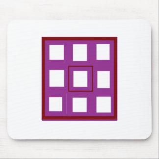 Seja presentes diferentes dos quadrados do roxo do mouse pad