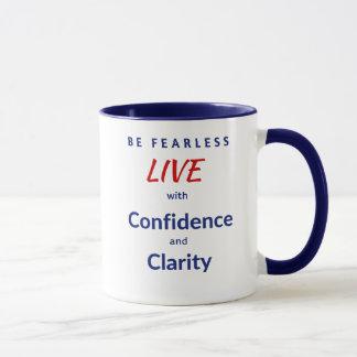 Seja sem medo VIVEM com a confiança e a claridade Caneca
