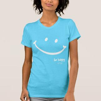 seja smiley feliz camiseta