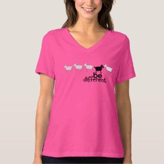 Seja t-shirt preto diferente das senhoras do sono