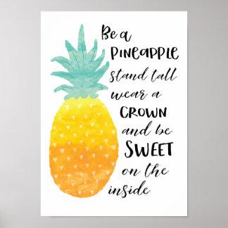Seja um abacaxi póster