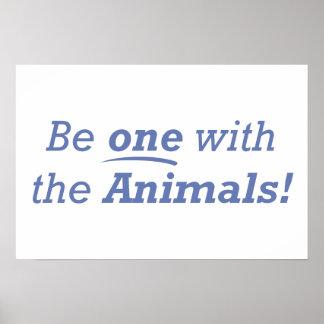 Seja um com os animais! poster