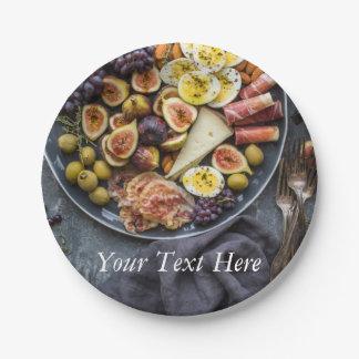 Seleção italiana da comida prato de papel
