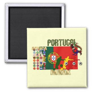 Selecção Portuguesa - 32 Paises Futebol Arte Ímã Quadrado