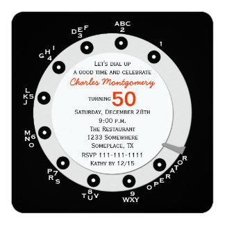 Seletor giratório do 50th convite de aniversário