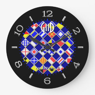 Seletor náutico Checkered personalizado das Relógio De Parede