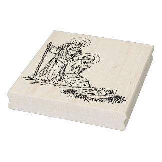 Selo da arte da ilustração de Jesus do bebê da Carimbo De Borracha