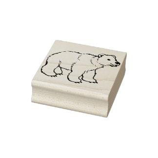 selo da arte da ilustração do urso polar do bebê carimbo de borracha