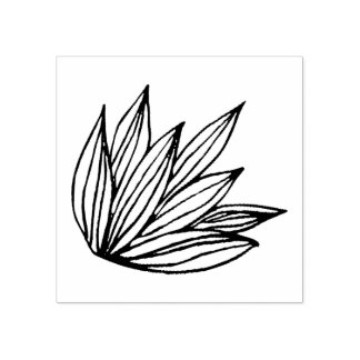 Selo do esboço de Lotus Carimbo De Borracha