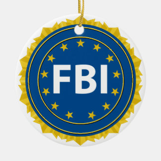 Selo do FBI Ornamento De Cerâmica