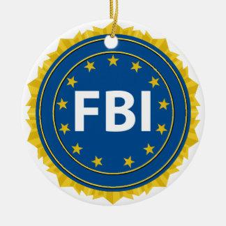 Selo do FBI Ornamento De Cerâmica Redondo