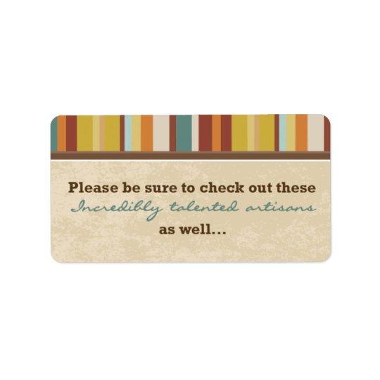 Selo do malote do cartão de visita (para eventos) etiqueta de endereço