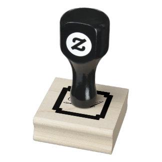 Selo do monograma carimbo de borracha