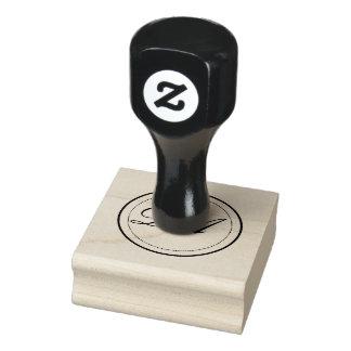 Selo do monograma do círculo carimbo de borracha