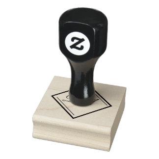 Selo do monograma do diamante carimbo de borracha