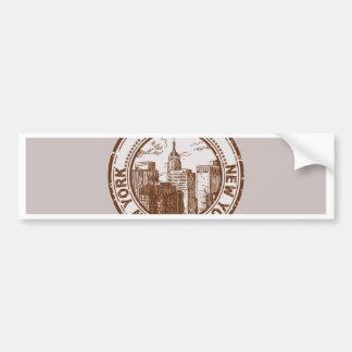 Selo do viagem de New York, EUA Adesivo Para Carro