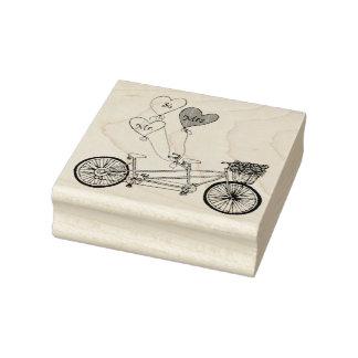 Selo em tandem da bicicleta do amor carimbo de borracha