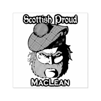 Selo escocês da tinta de MacLean do clã do escocês Carimbo Auto Entintado