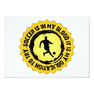 Selo fantástico do futebol convite 12.7 x 17.78cm