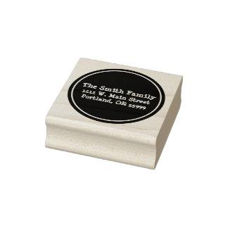 Selo feito sob encomenda do círculo preto carimbo de borracha