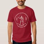 Selo redondo do cavaleiro medieval camisetas