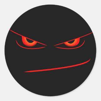 selo vermelho mau dos olhos adesivo redondo
