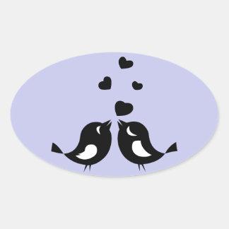 Selos da etiqueta ou do envelope dos Lovebirds