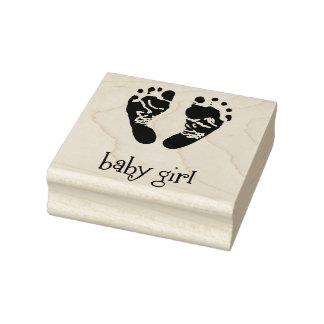 Selos de madeira da arte/bebé com pés carimbo de borracha