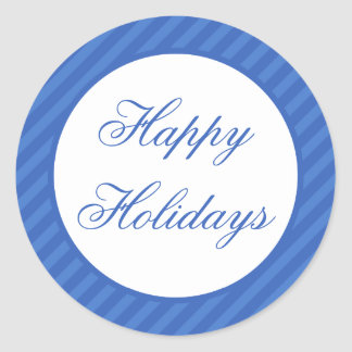 Selos do envelope do Natal do azul boas festas Adesivo