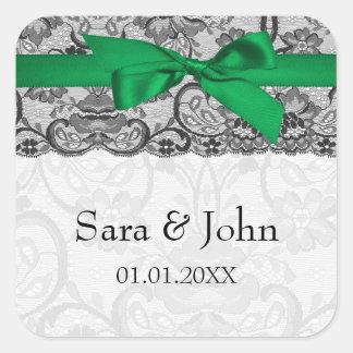 Selos do envelope do verde esmeralda da fita do adesivo quadrado