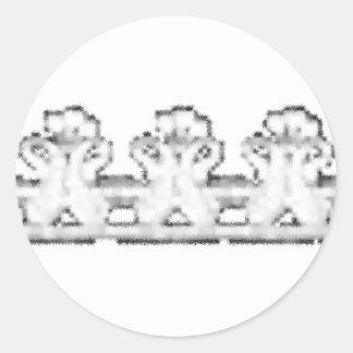 Selos elegantes do envelope dos convites do adesivo redondo