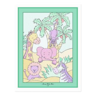Selva do bebê 13 chás de fraldas cartão postal