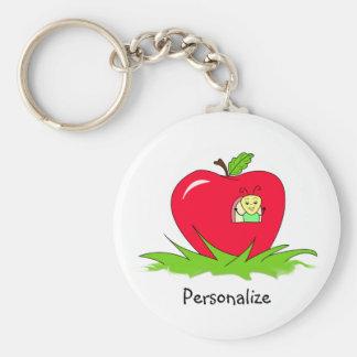 Sem-fim em Apple vermelho com nome Chaveiro