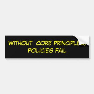 Sem princípios do núcleo, falha das políticas adesivo para carro