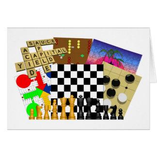 Semana do jogo e do quebra-cabeça cartão