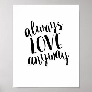 Sempre do amor impressão das citações de