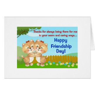 Sempre lá cartão da amizade