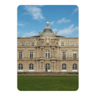Senado francês Paris France do palácio de Convite 12.7 X 17.78cm