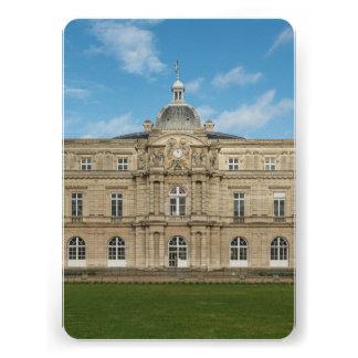 Senado francês Paris France do palácio de Luxembou Convite