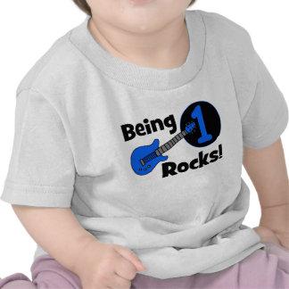 Sendo rochas 1 O primeiro aniversario do bebê per Camiseta