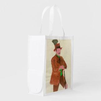Senhor alemão 2 sacolas ecológicas para supermercado