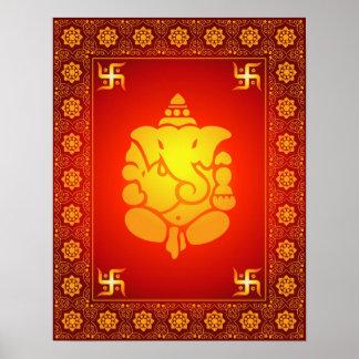 Senhor decorativo Ganesha Poster